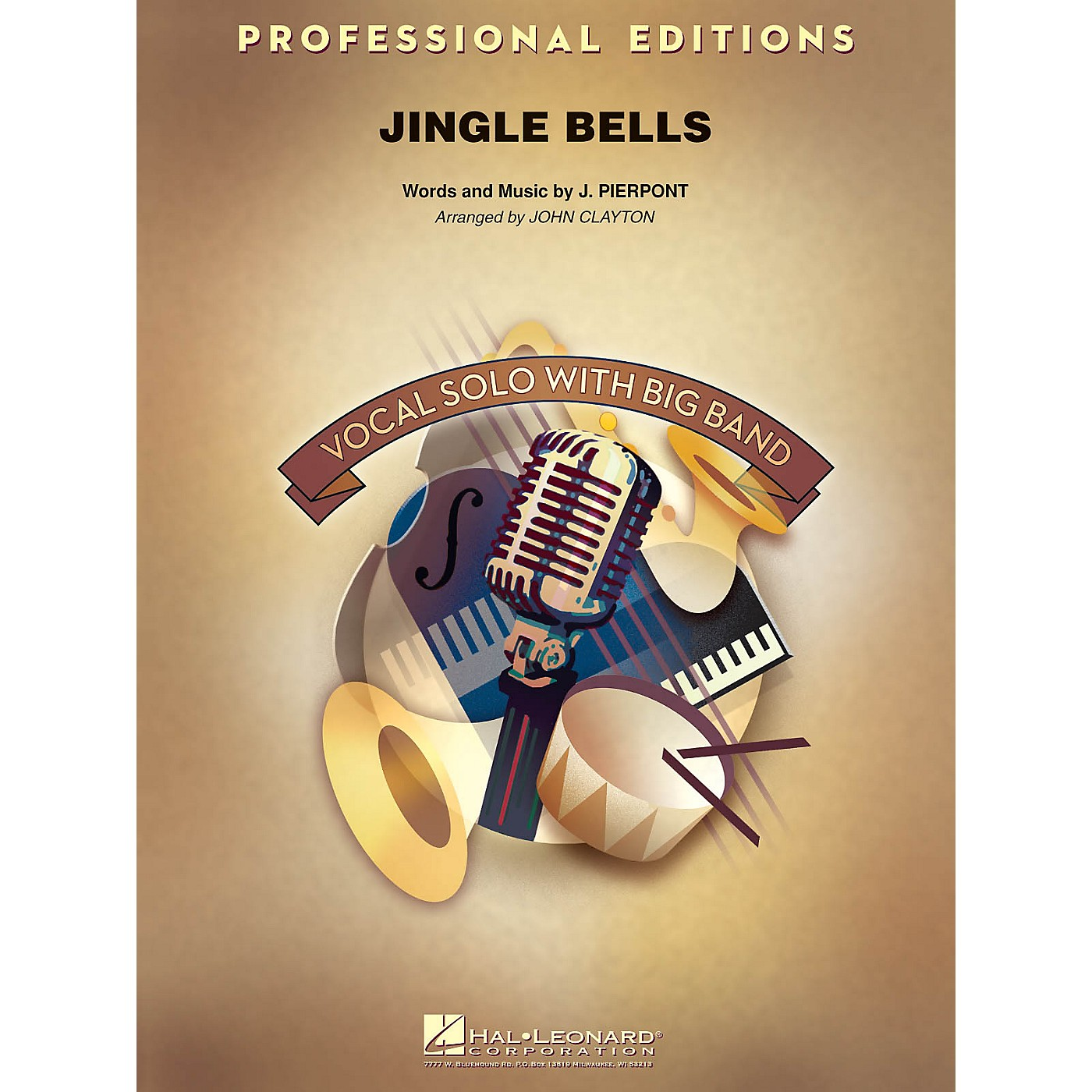Hal Leonard Jingle Bells (Key: Bb, B, C) Jazz Band Level 5 Arranged by John Clayton thumbnail