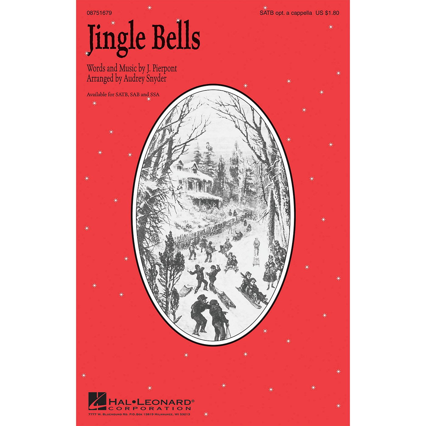 Hal Leonard Jingle Bells SAB optional a cappella Arranged by Audrey Snyder thumbnail