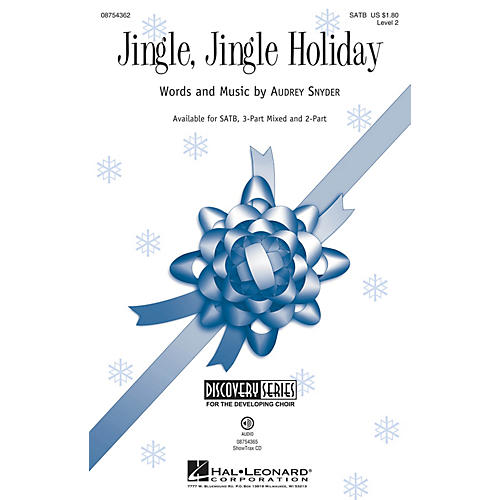 Hal Leonard Jingle, Jingle Holiday (Discovery Level 2) SATB composed by Audrey Snyder thumbnail
