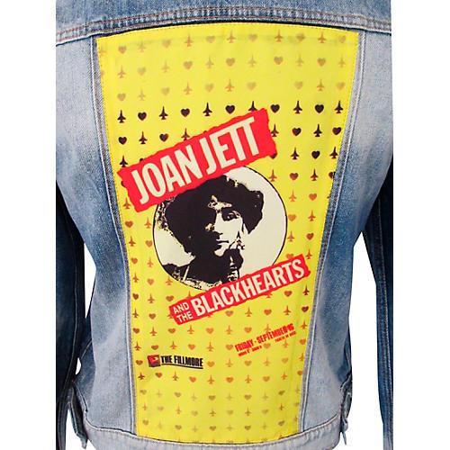 Dragonfly Clothing Joan Jett & The Blackhearts - The Fillmore - Spades & Clovers - Womens Denim Jacket thumbnail
