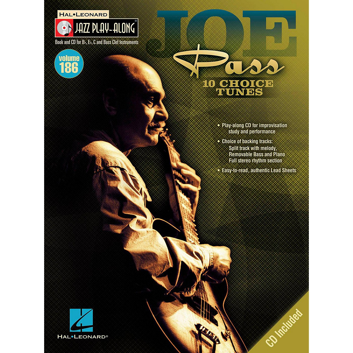 Hal Leonard Joe Pass - Jazz Play-Along Volume 186 Book/CD thumbnail
