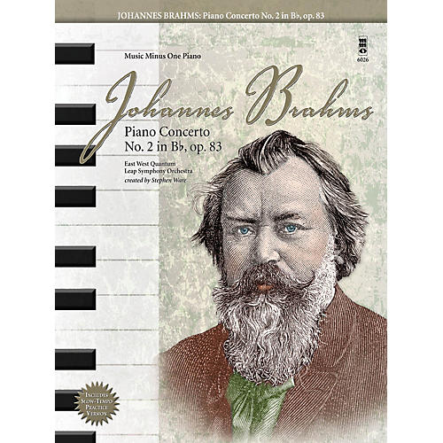 Music Minus One Johannes Brahms - Piano Concerto No. 2 in B-Flat, Op. 83 Music Minus One Book with CD by Johannes Brahms thumbnail