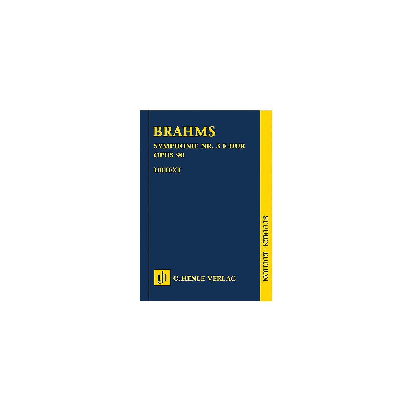 G. Henle Verlag Johannes Brahms - Symphony No. 3 in F Major Op. 90 Henle Music Folios Series Softcover by Johannes Brahms thumbnail