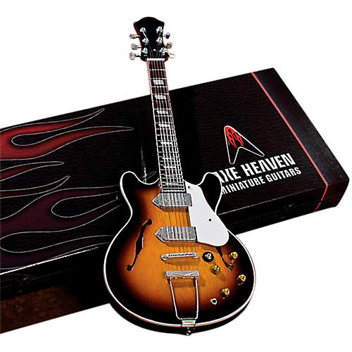 Axe Heaven John Lennon Classic 1965 Sunburst Casino Miniature Guitar Replica Collectible thumbnail