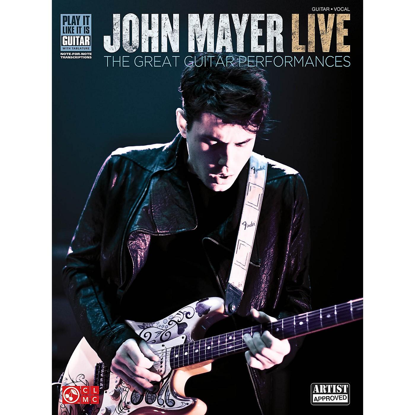 Cherry Lane John Mayer Live - The Great Guitar Performances Guitar Tab Songbook thumbnail