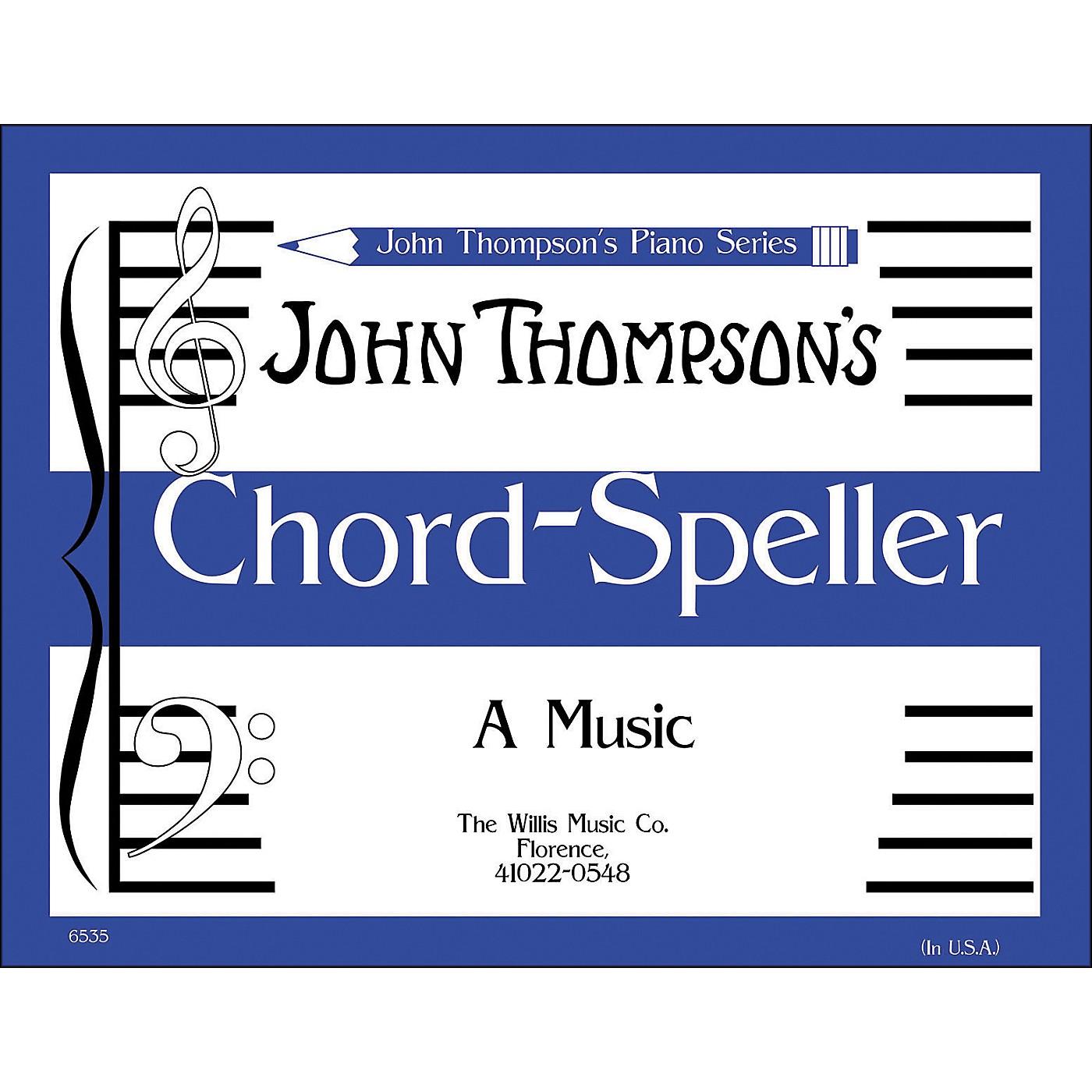 Willis Music John Thompson's Chord Speller (A Music Writing Book) Later Elementary Level thumbnail