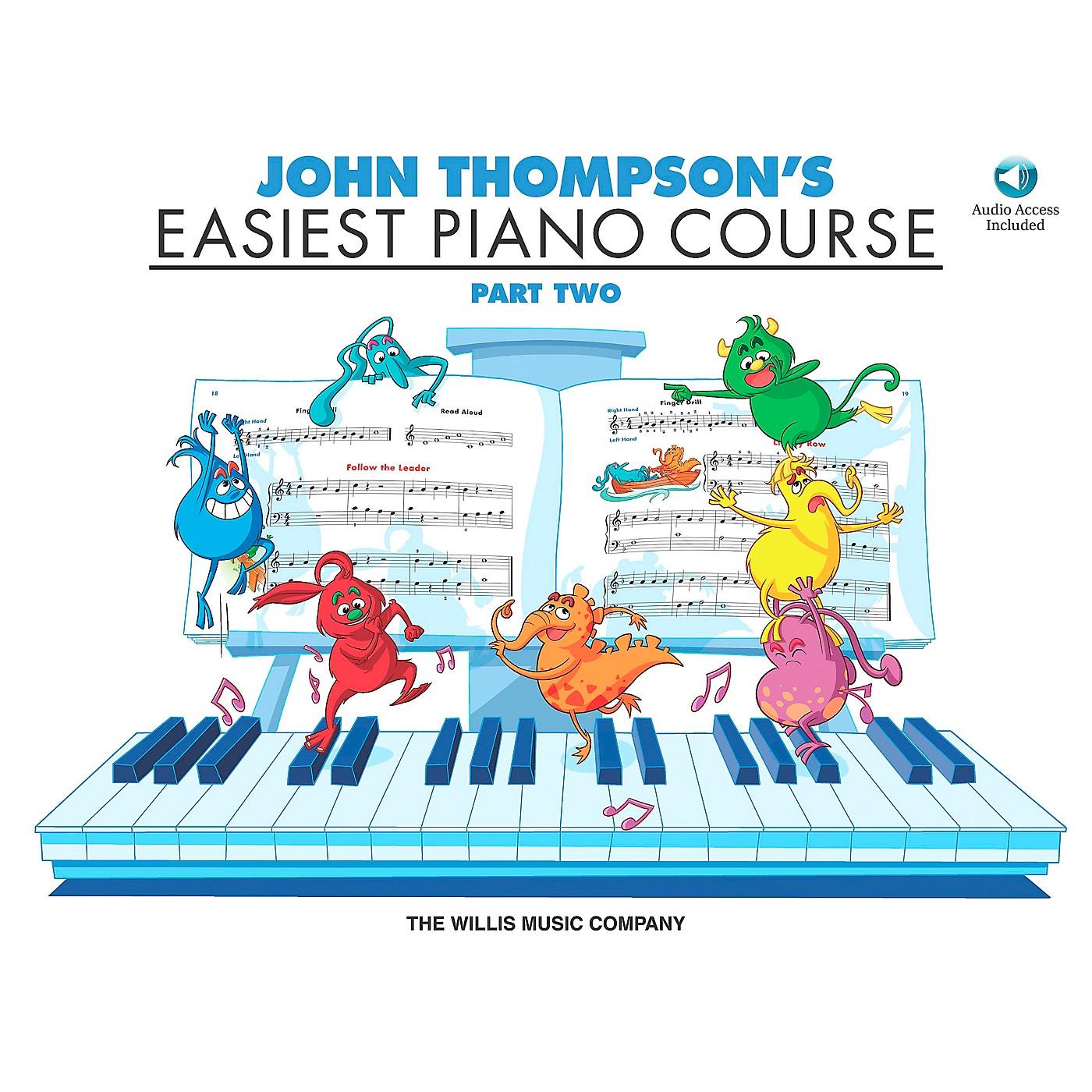 Willis Music John Thompson's Easiest Piano Course Part 2 Book/CD thumbnail