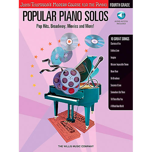 Willis Music John Thompson's Modern Course for Piano - Popular Piano Solos Fourth Grade Book/CD thumbnail