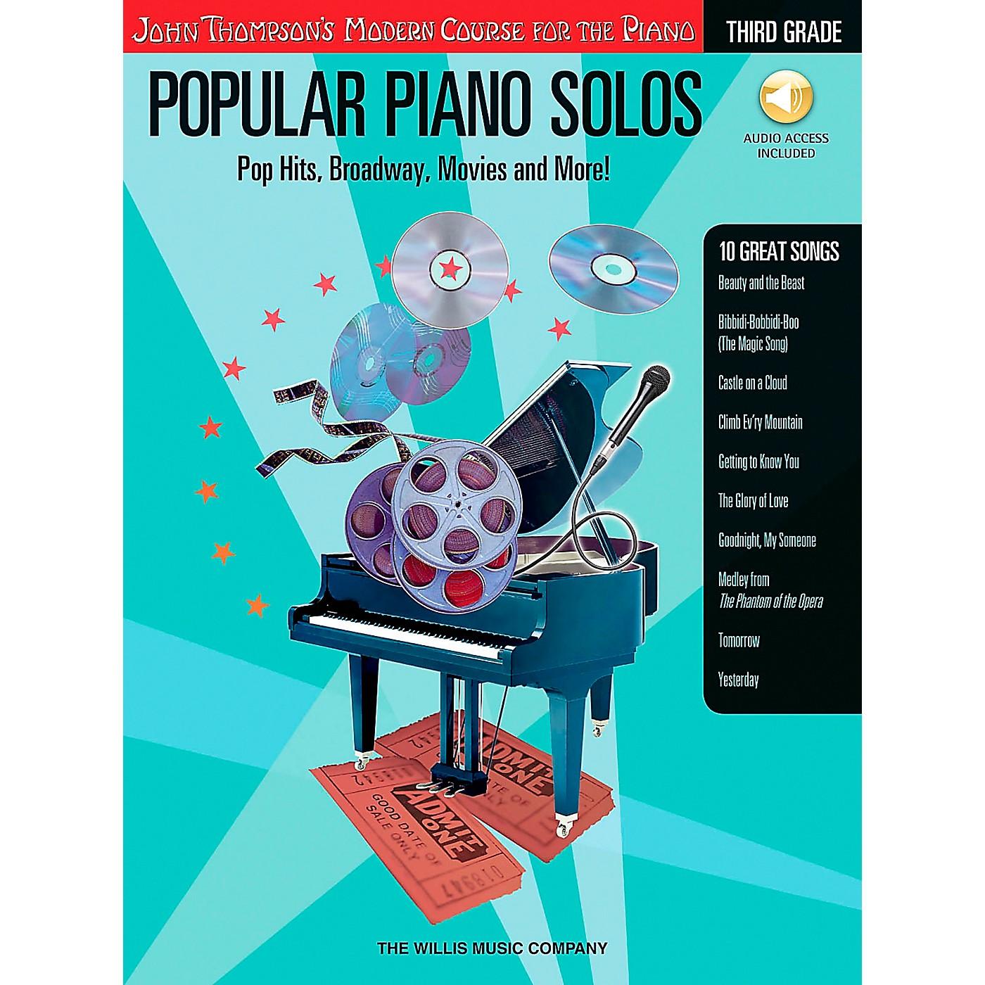 Willis Music John Thompson's Modern Course for Piano - Popular Piano Solos Grade 3 Book/CD thumbnail