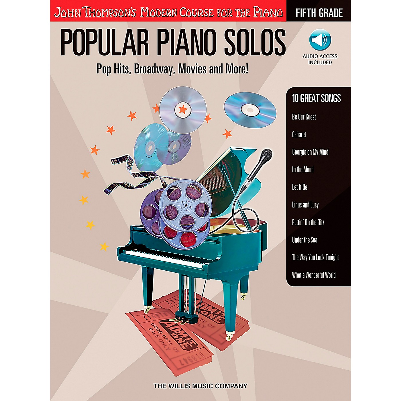Willis Music John Thompson's Modern Course for The Piano - Popular Piano Solos Fifth Grade Book/CD thumbnail