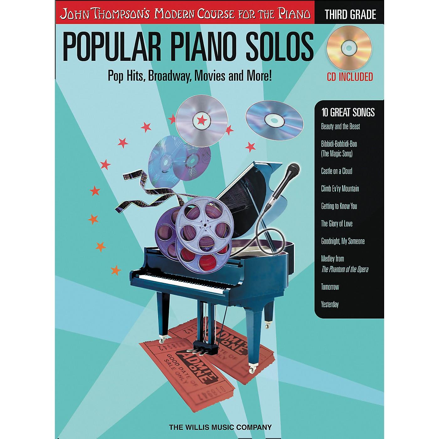 Willis Music John Thompson's Modern Course for The Piano - Popular Piano Solos Grade three thumbnail