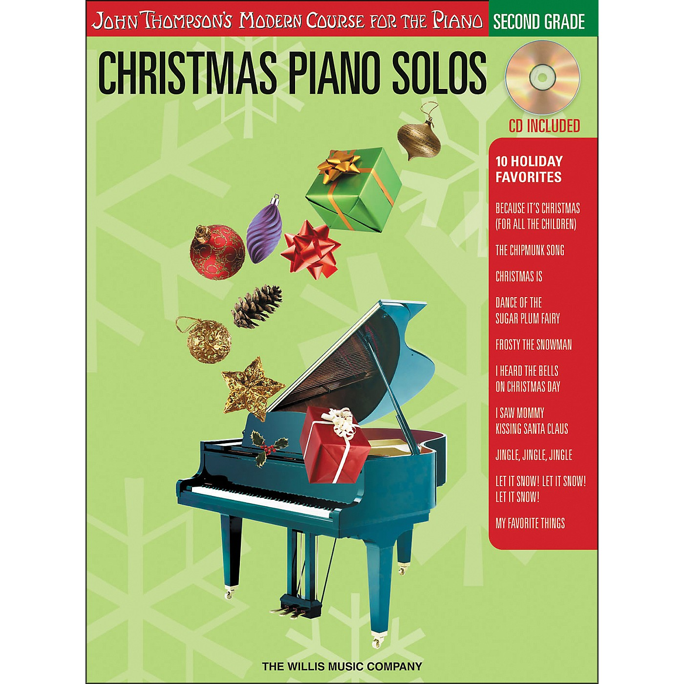 Willis Music John Thompson's Modern Course for the Piano - Christmas Piano Solos Second Grade Book/CD thumbnail