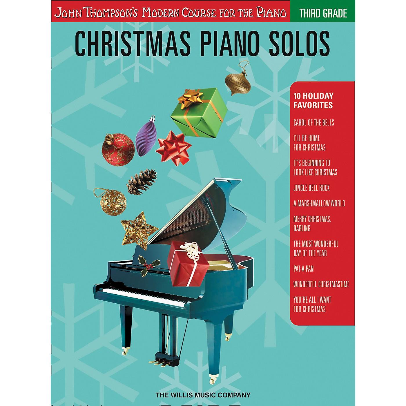 Willis Music John Thompson's Modern Course for the Piano - Christmas Piano Solos Third Grade thumbnail
