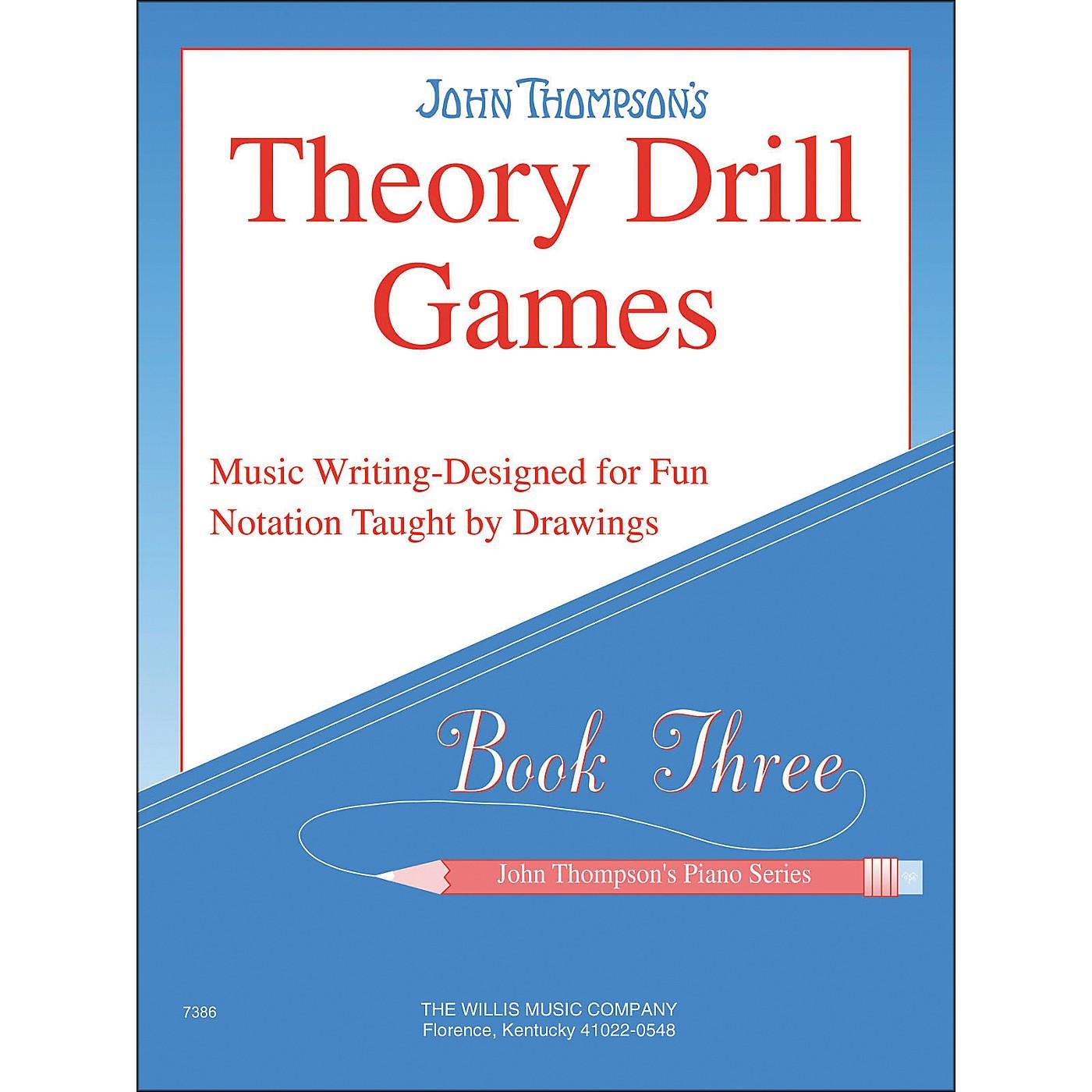 Willis Music John Thompson's Theory Drill Games Book 3 thumbnail