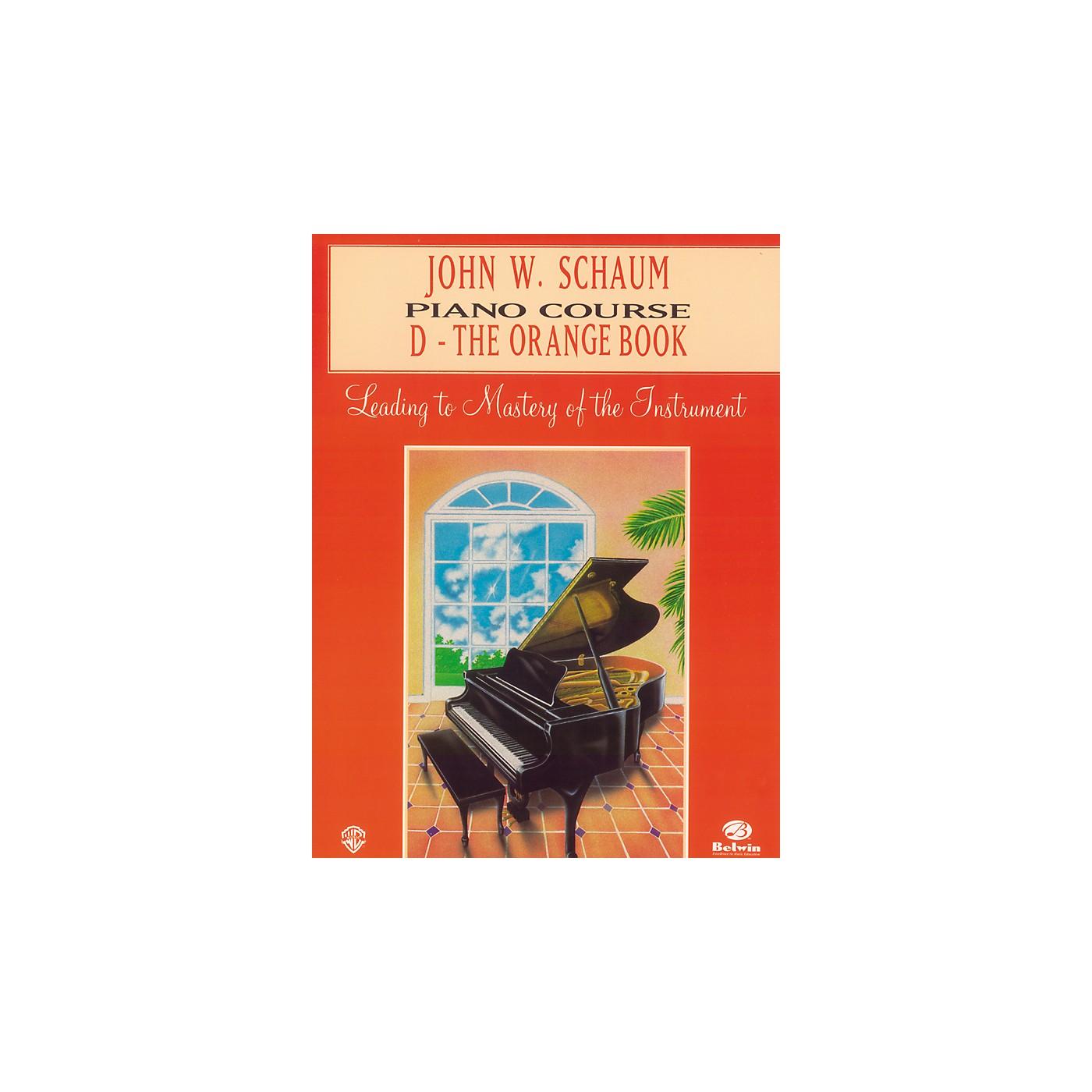 Alfred John W. Schaum Piano Course D The Orange Book thumbnail
