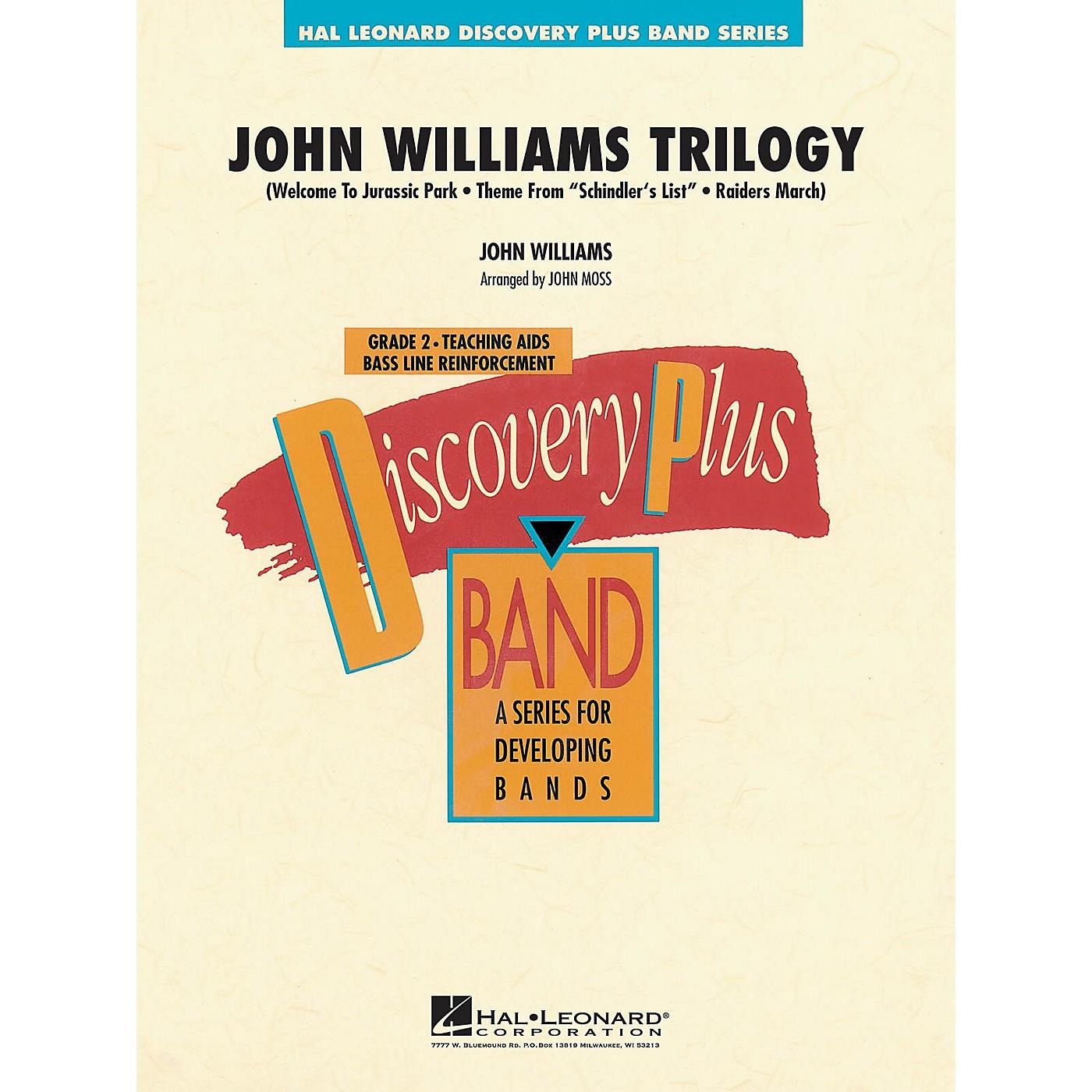 Hal Leonard John Williams Trilogy - Discovery Plus Concert Band Series Level 2 arranged by John Moss thumbnail