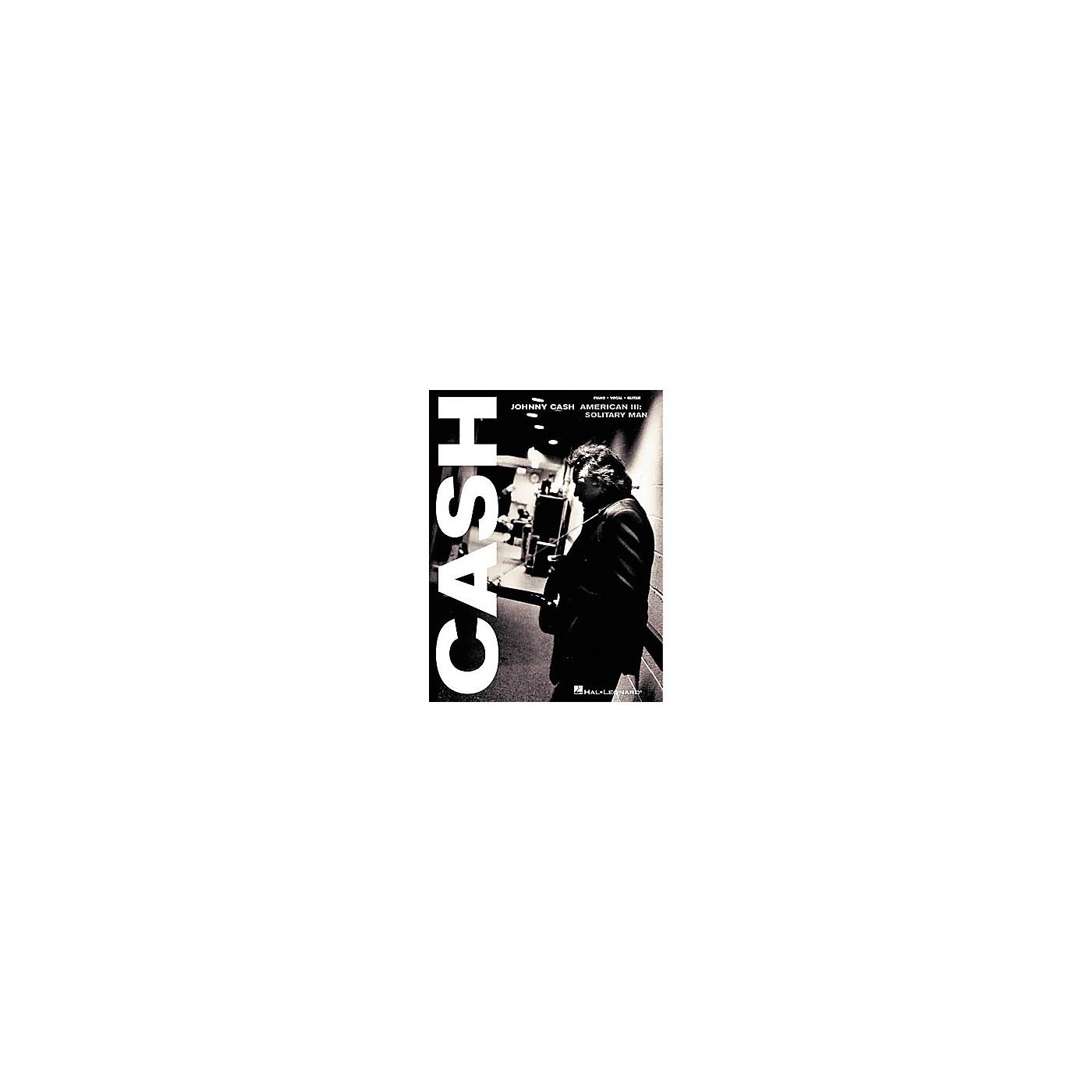Hal Leonard Johnny Cash - American III: Solitary Man Songbook thumbnail