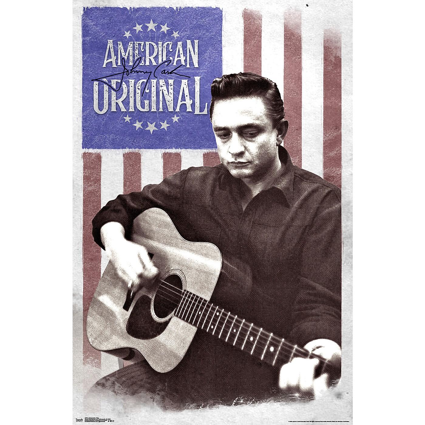 Trends International Johnny Cash Flag Poster thumbnail