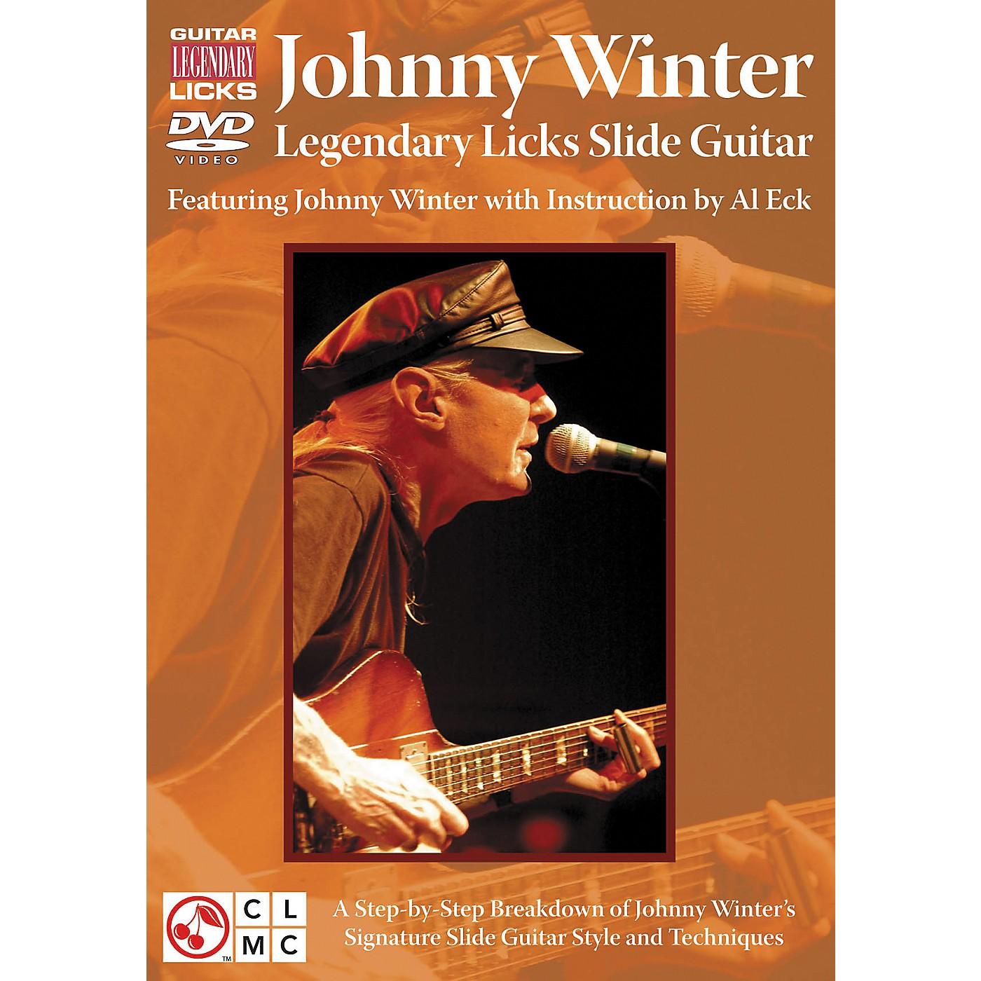 Cherry Lane Johnny Winter Legendary Licks Slide Guitar DVD thumbnail