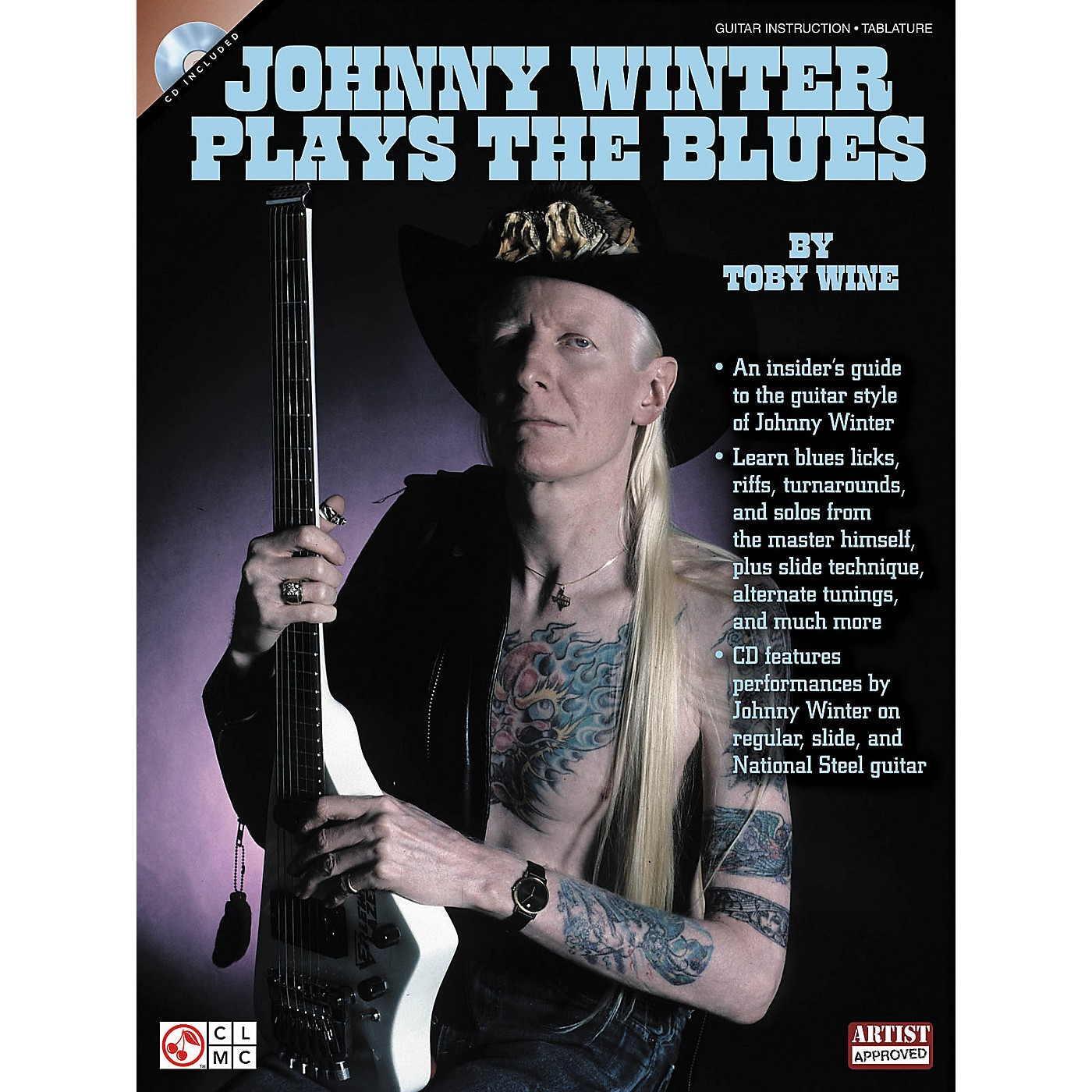 Cherry Lane Johnny Winter Plays The Blues (Book/CD) thumbnail