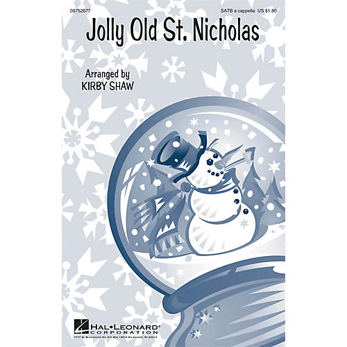 Hal Leonard Jolly Old St. Nicholas SATB a cappella arranged by Kirby Shaw thumbnail