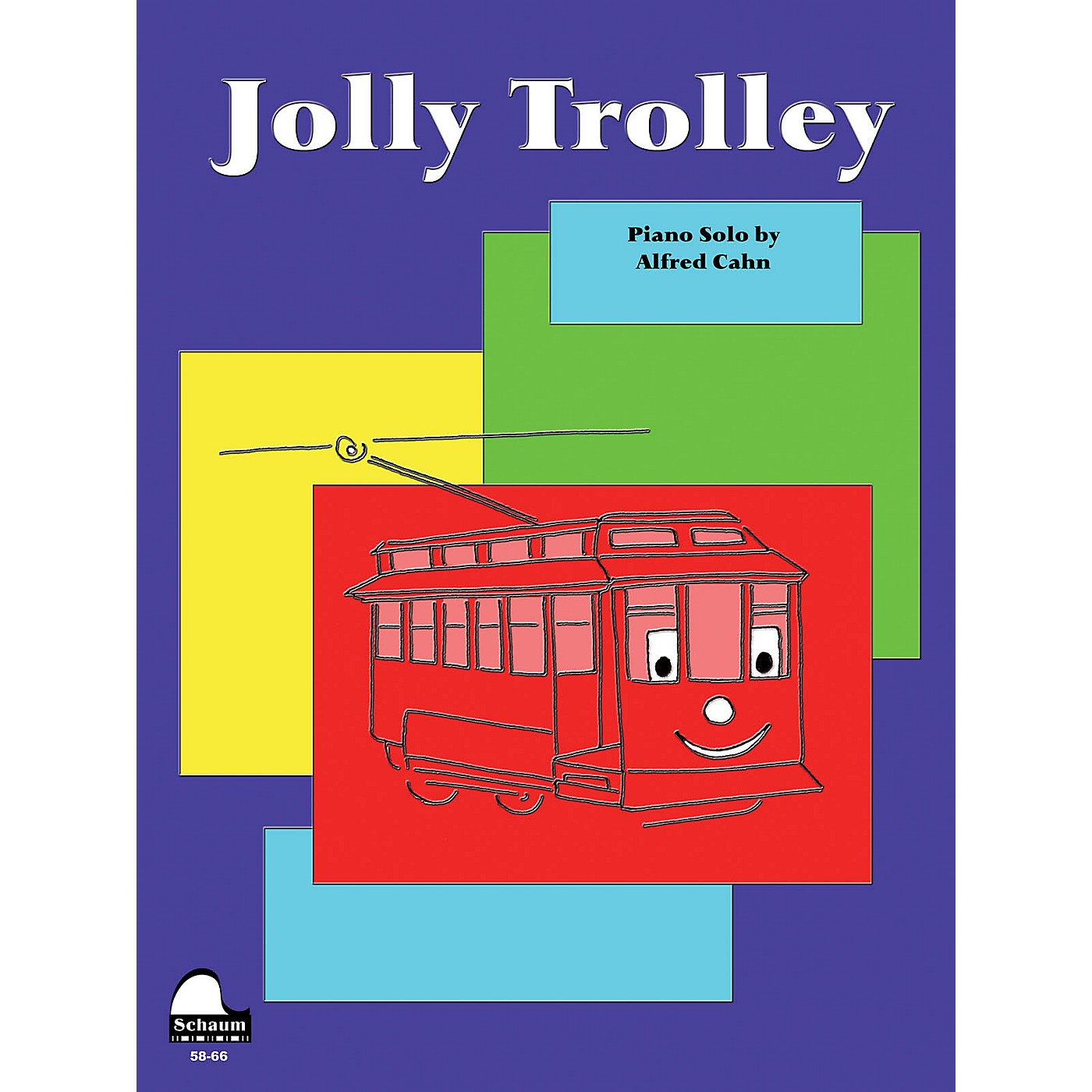 SCHAUM Jolly Trolley Educational Piano Series Softcover thumbnail