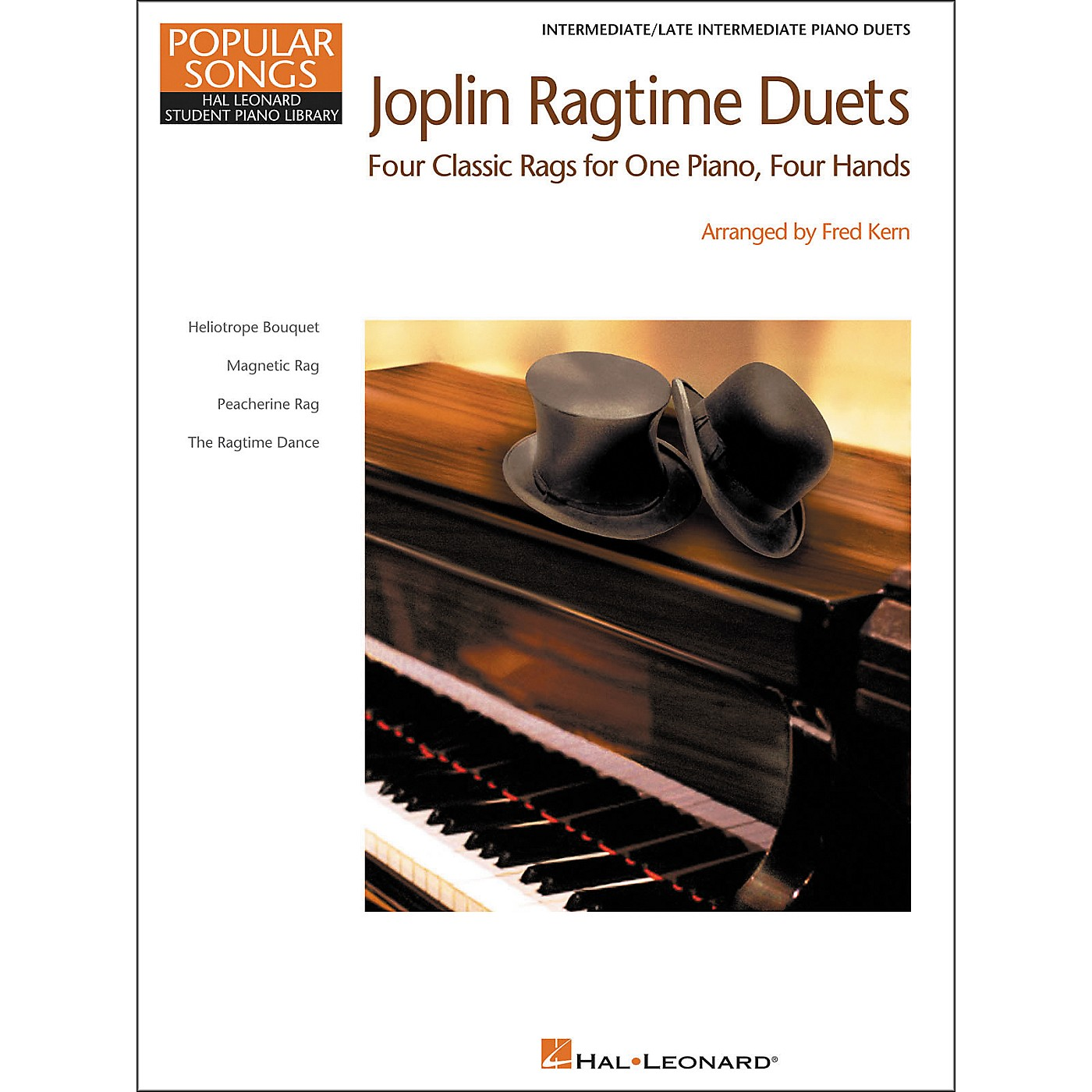 Hal Leonard Joplin Ragtime Duets - Popular Songs Level 5 Intermediate/Late Intermediate Hal Leonard Student Piano Library by Fred Kern thumbnail