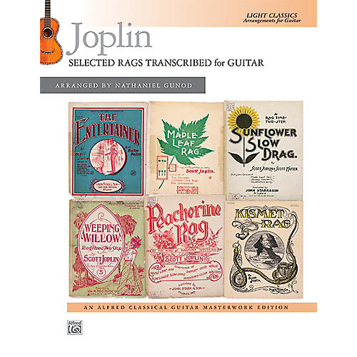 Alfred Joplin: Selected Rags Transcribed for Guitar - Book Intermediate thumbnail