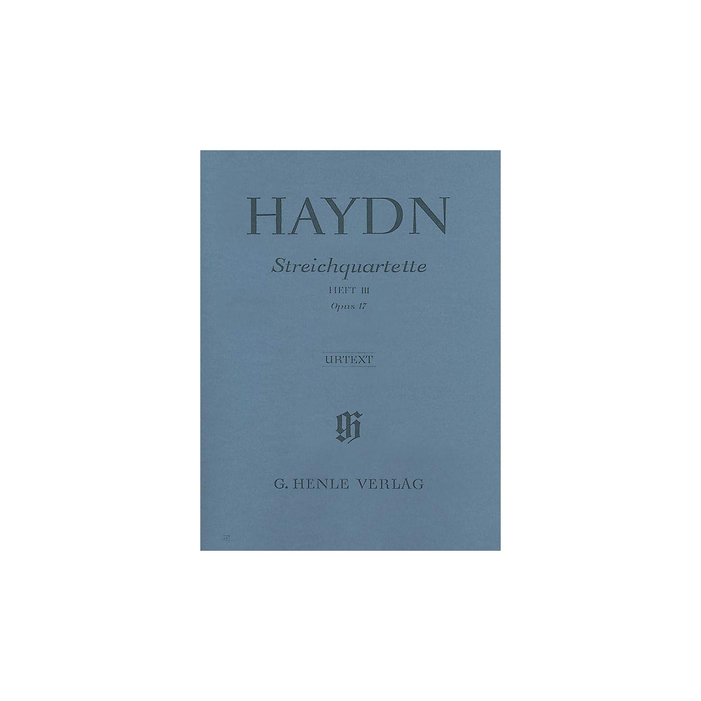 G. Henle Verlag Joseph Haydn - String Quartets Volume III, Op. 17 Henle Music Folios Series Softcover by Joseph Haydn thumbnail