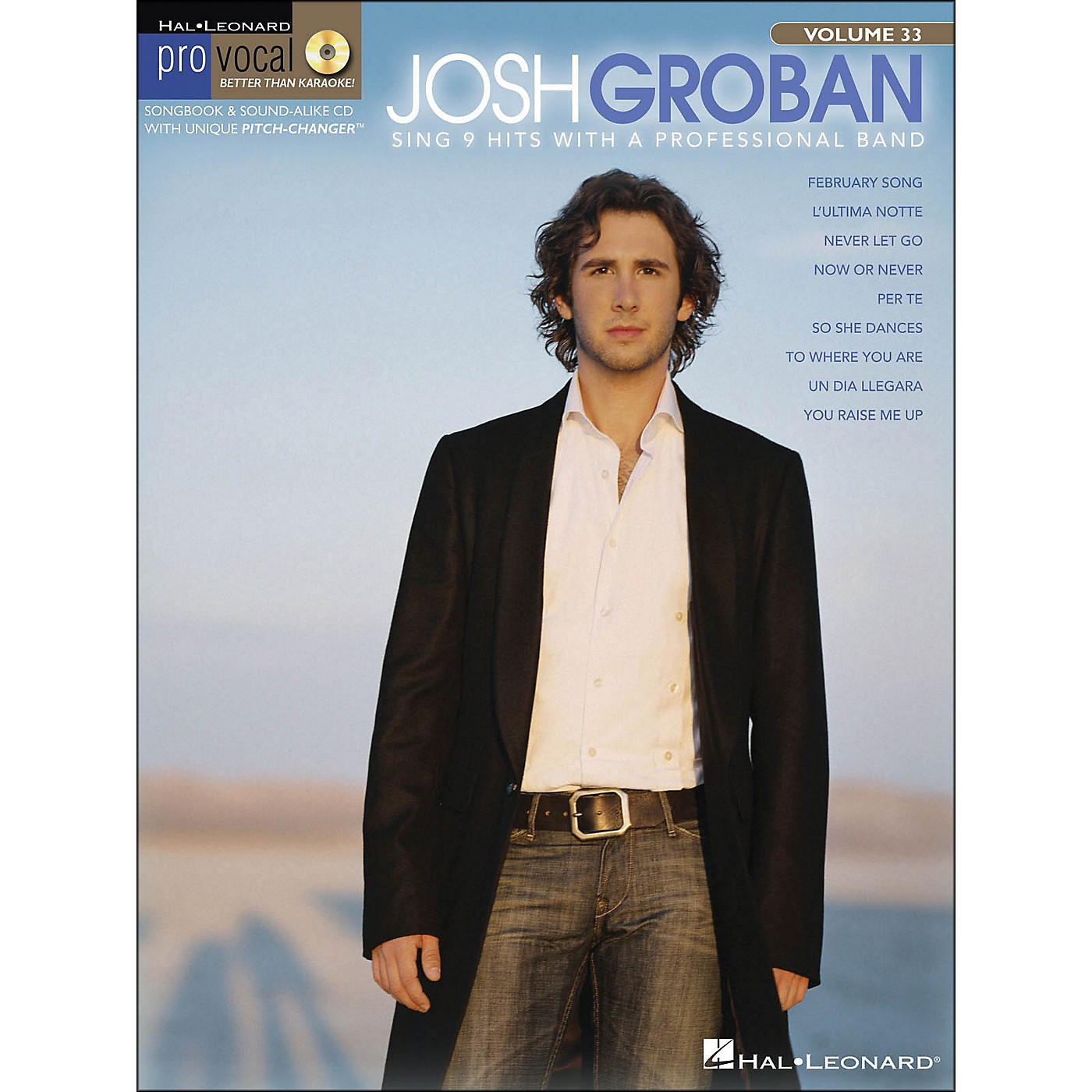 Hal Leonard Josh Groban - Pro Vocal Series for Male Singers Volume 33 Book/CD thumbnail