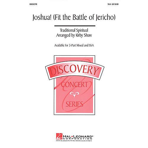 Hal Leonard Joshua! (Fit the Battle of Jericho) 2-Part Arranged by Kirby Shaw thumbnail