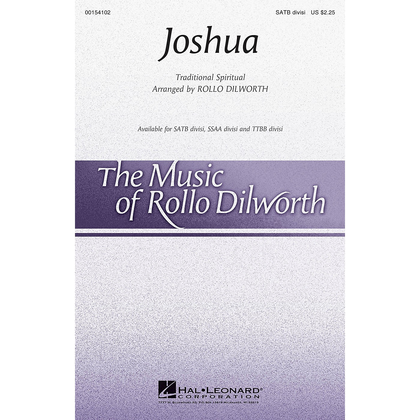 Hal Leonard Joshua TTBB DIVISI Arranged by Rollo Dilworth thumbnail