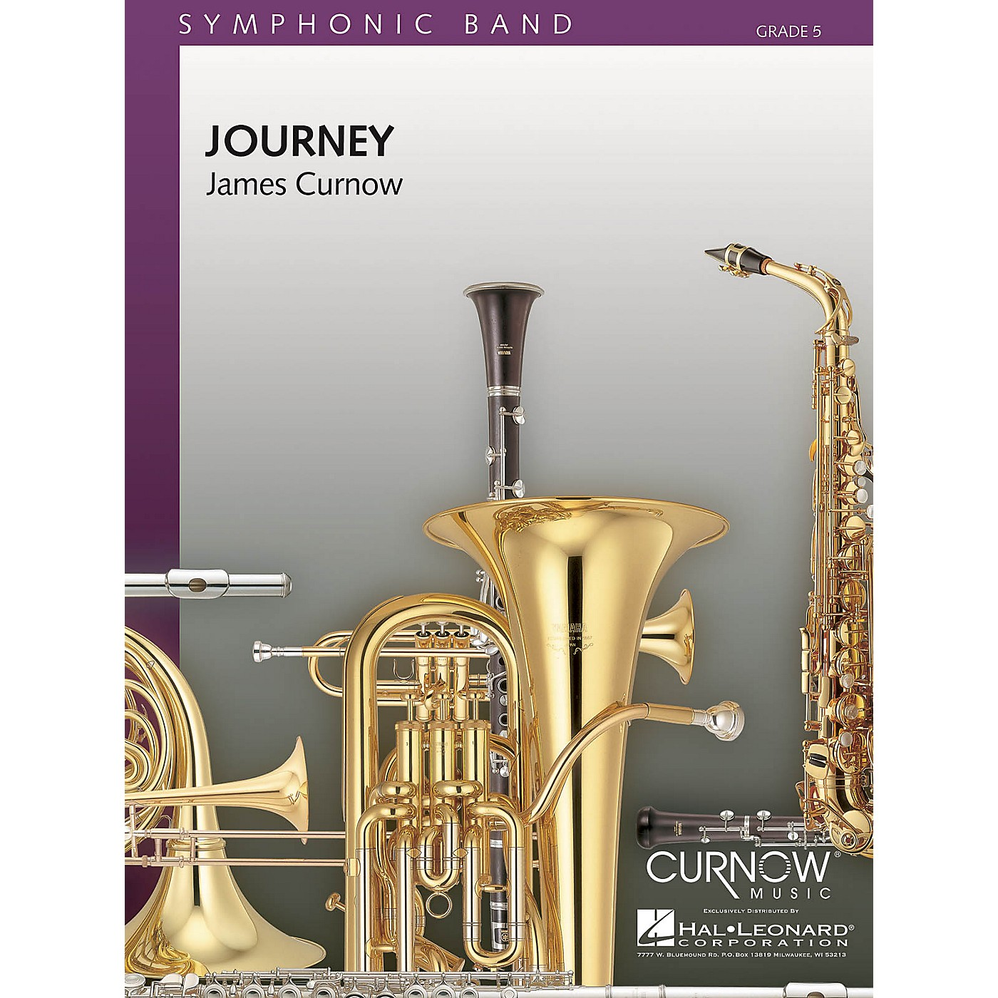 Curnow Music Journey (Grade 5 - Score and Parts) Concert Band Level 5 Composed by James Curnow thumbnail