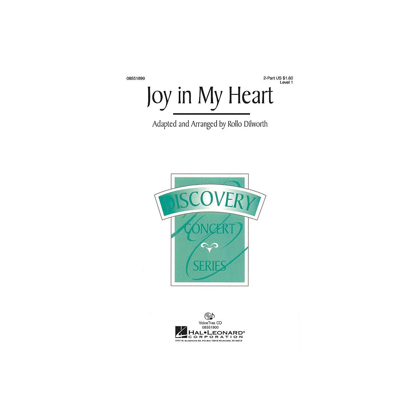 Hal Leonard Joy in My Heart 2-Part arranged by Rollo Dilworth thumbnail