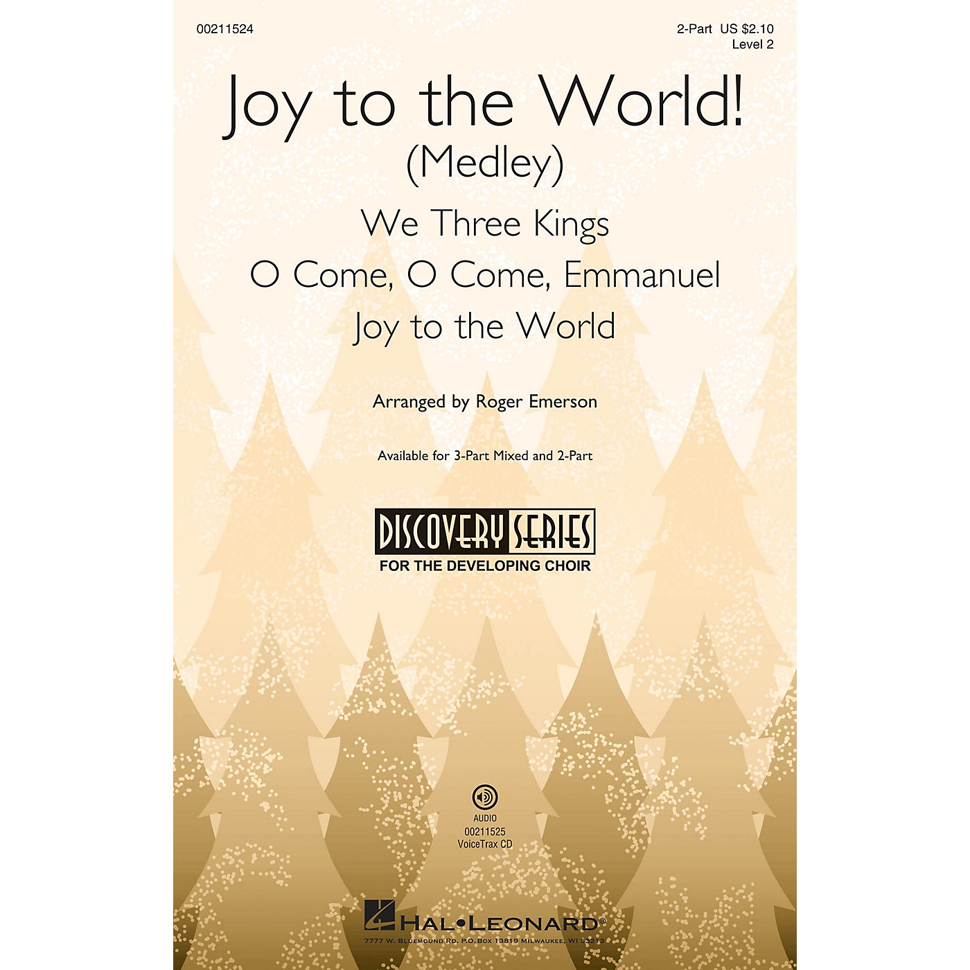 Hal Leonard Joy to the World! (Medley) (Discovery Level 2) 2-Part arranged by Roger Emerson thumbnail