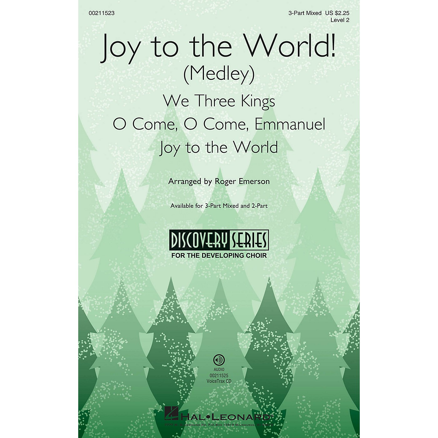 Hal Leonard Joy to the World! (Medley) Discovery Level 2 3-Part Mixed arranged by Roger Emerson thumbnail
