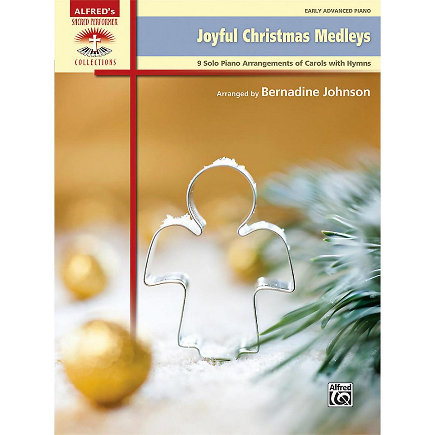 Alfred Joyful Christmas Medleys Early Advanced Piano Book thumbnail
