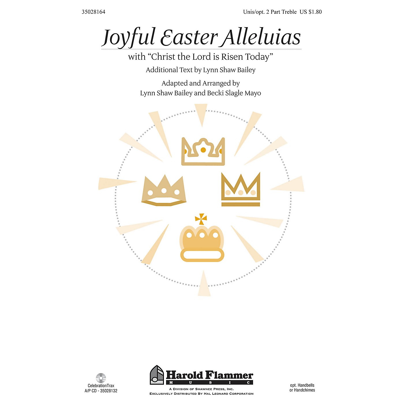 Shawnee Press Joyful Easter Alleluias (with Christ the Lord Is Risen Today) UNIS/2PT arranged by Becki Slagle Mayo thumbnail