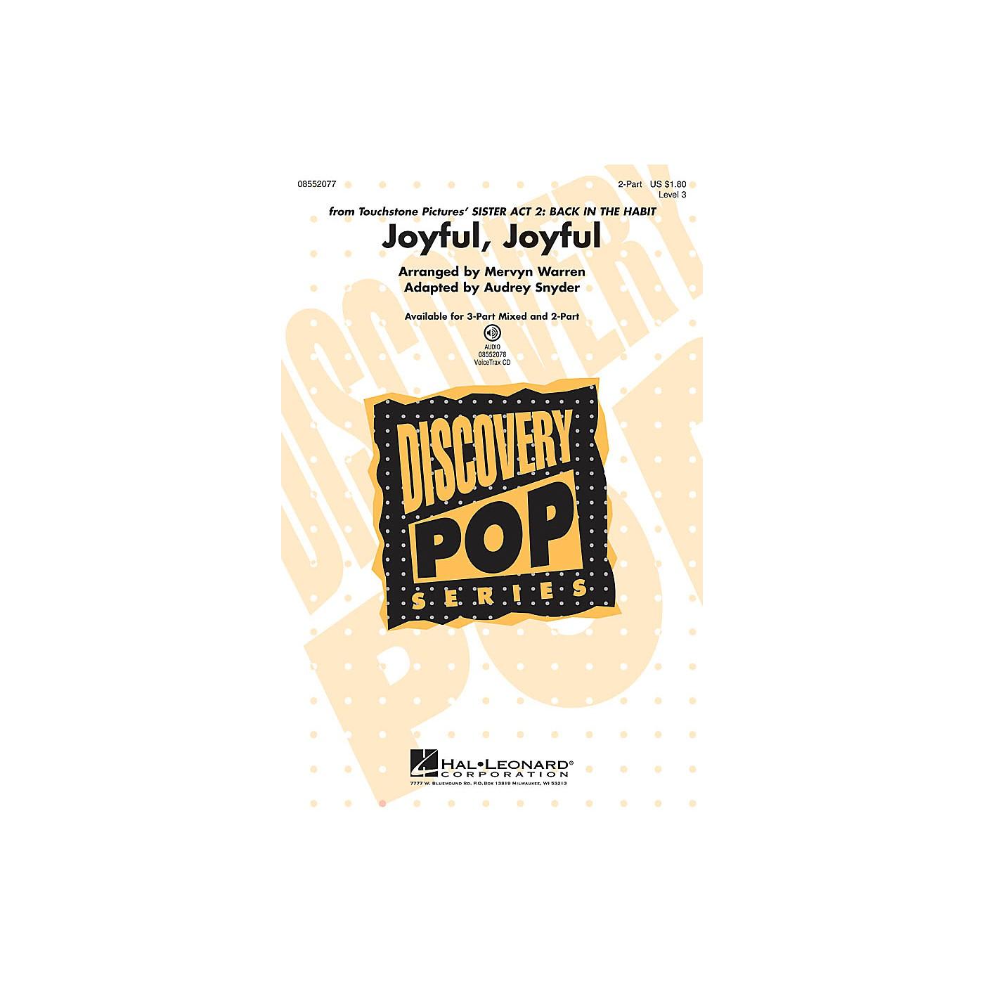 Hal Leonard Joyful, Joyful (from Sister Act 2: Back in the Habit) 2-Part arranged by Audrey Snyder thumbnail