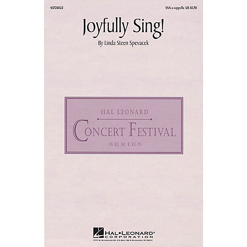 Hal Leonard Joyfully Sing! SSA A Cappella composed by Linda Spevacek thumbnail
