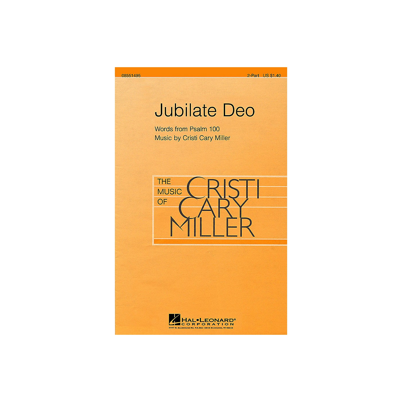 Hal Leonard Jubilate Deo 2-Part composed by Cristi Cary Miller thumbnail