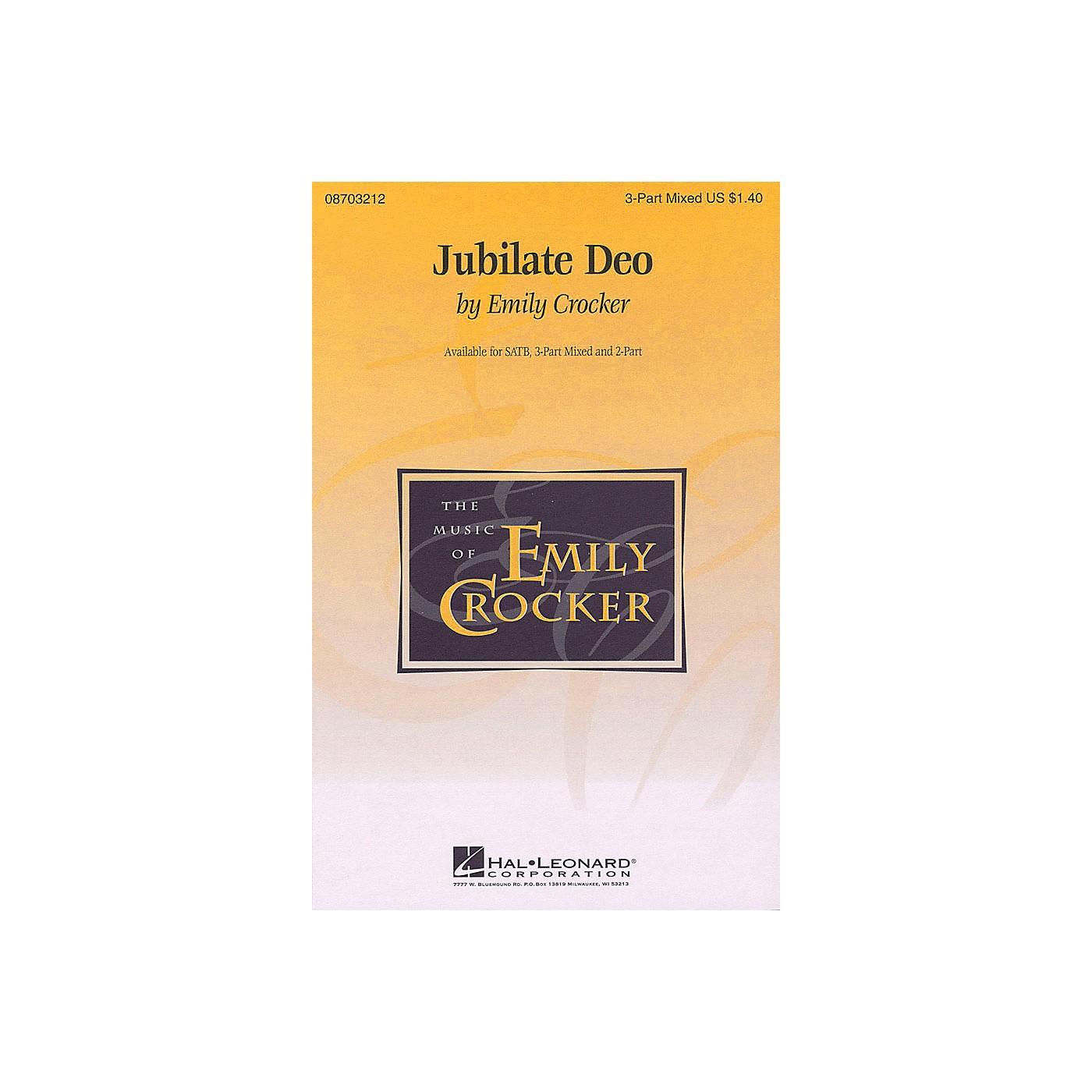Hal Leonard Jubilate Deo 2-Part composed by Emily Crocker thumbnail