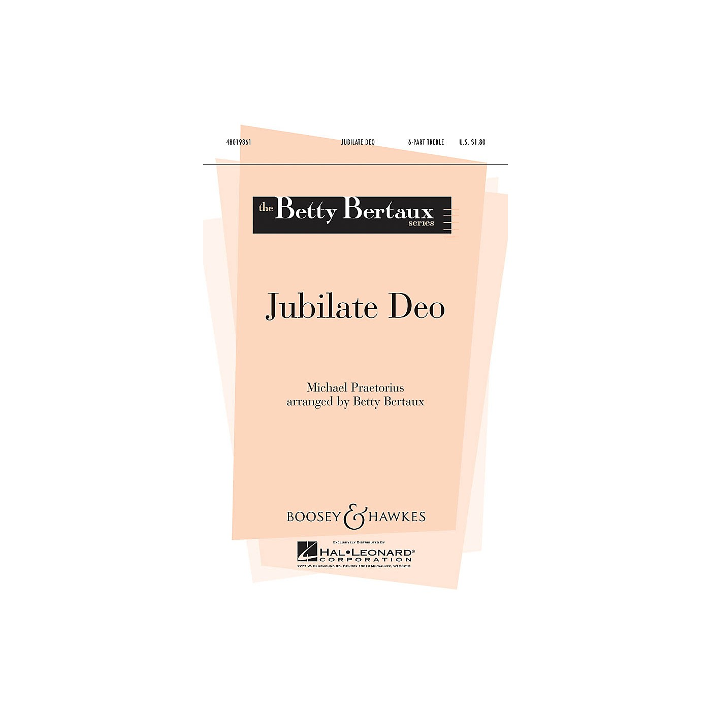 Boosey and Hawkes Jubilate Deo (Betty Bertaux Series) SSSAAA composed by Michael Praetorius arranged by Betty Bertaux thumbnail
