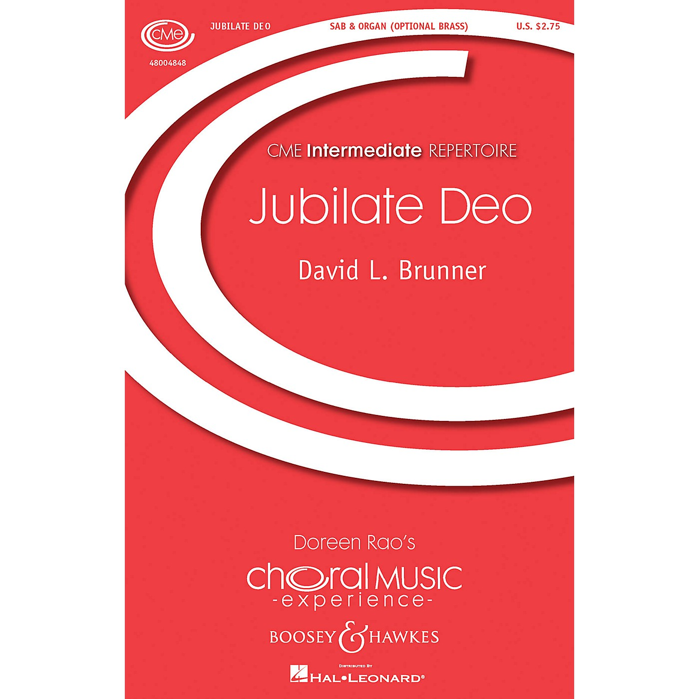 Boosey and Hawkes Jubilate Deo (CME Building Bridges) SAB composed by David Brunner thumbnail
