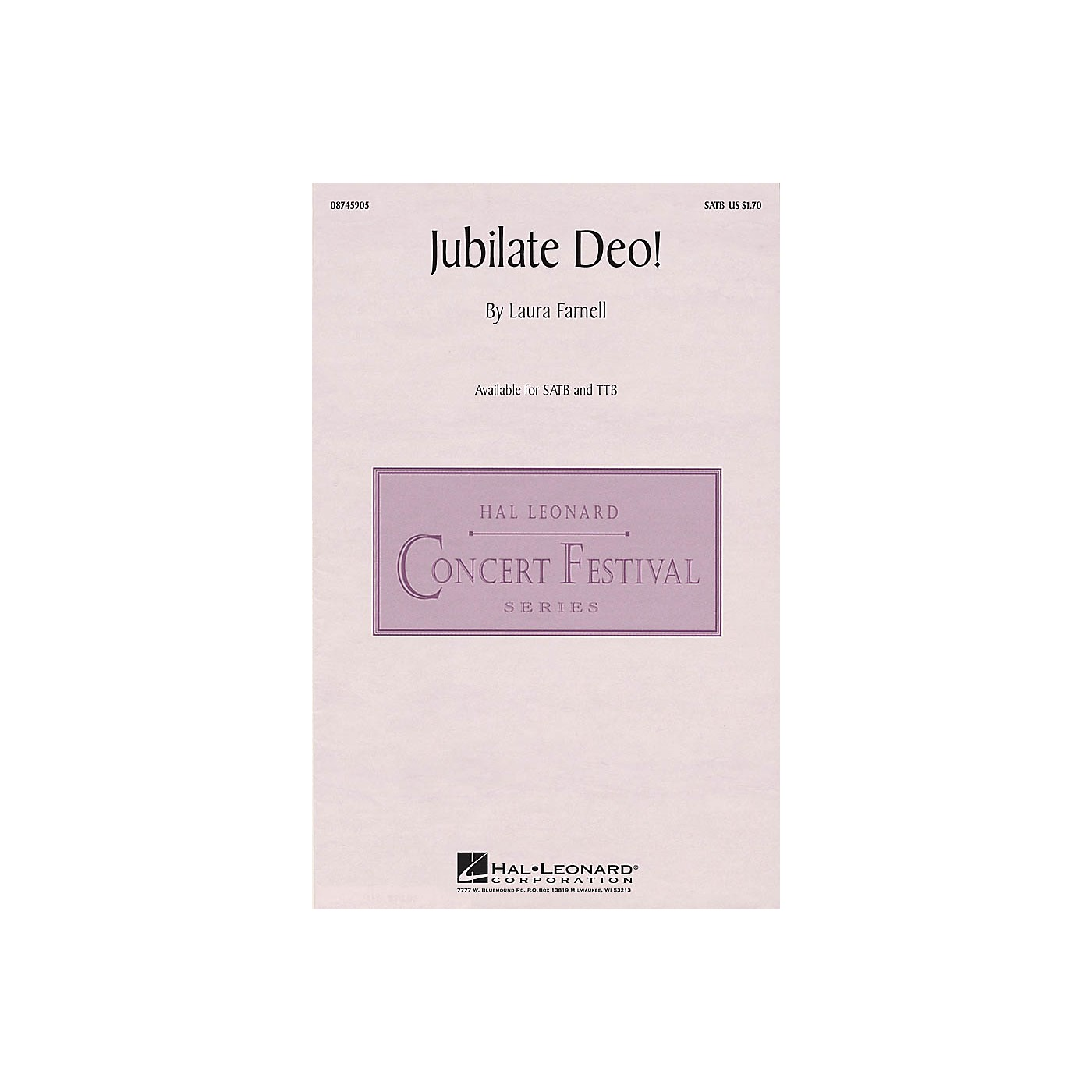 Hal Leonard Jubilate Deo! SATB composed by Laura Farnell thumbnail