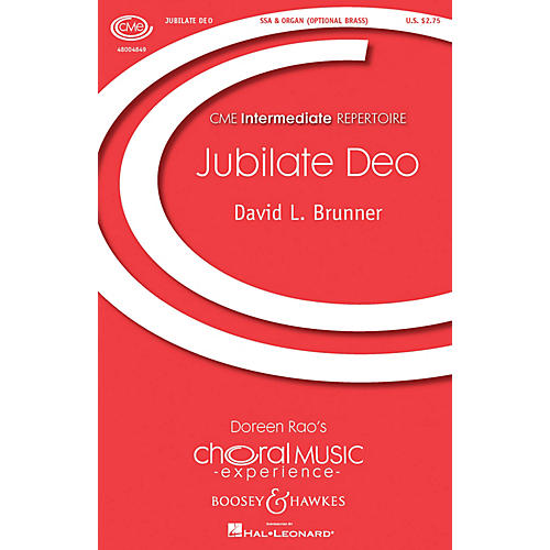 Boosey and Hawkes Jubilate Deo (SSA and Organ) SSA composed by David Brunner thumbnail