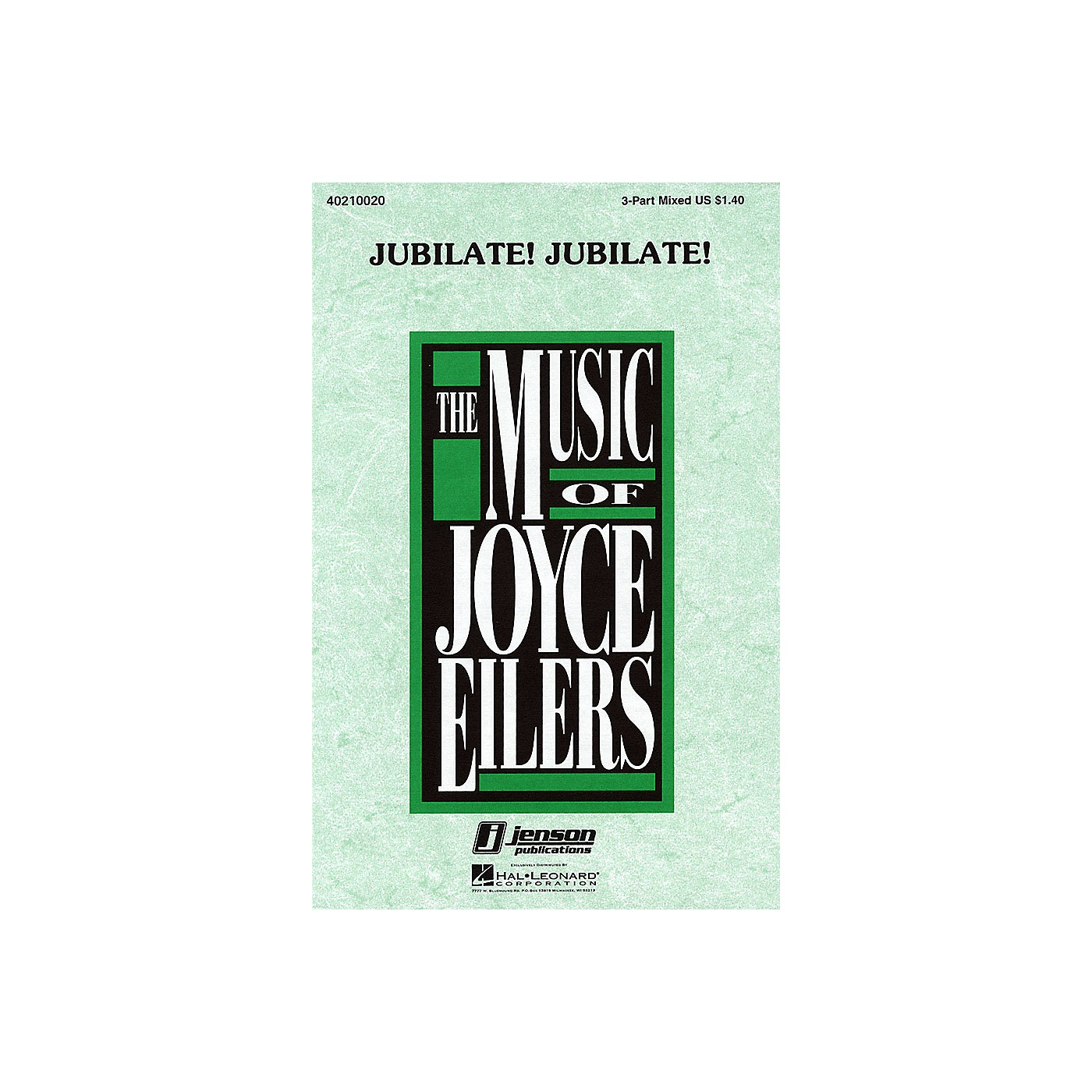 Hal Leonard Jubilate! Jubilate! 3-Part Mixed a cappella arranged by Joyce Eilers thumbnail