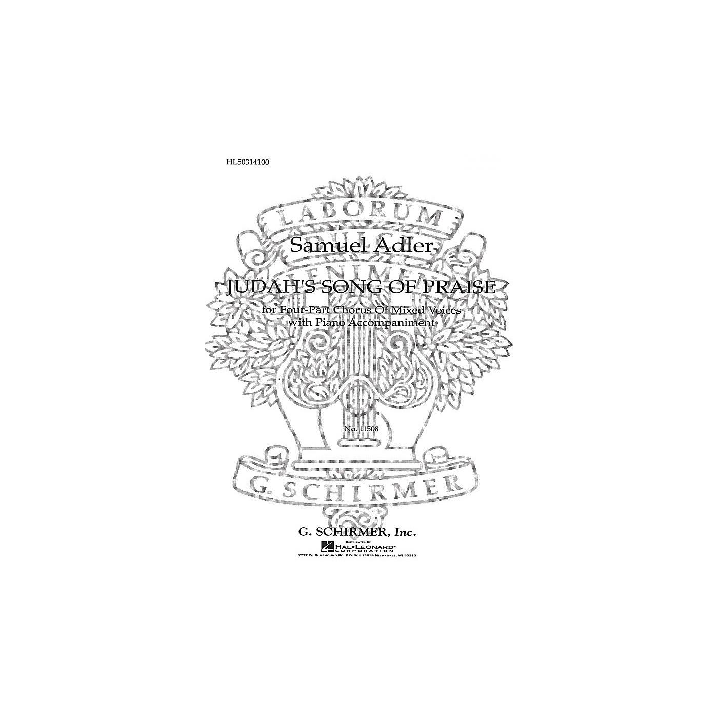 G. Schirmer Judah's Song of Praise SATB composed by Samuel Adler thumbnail
