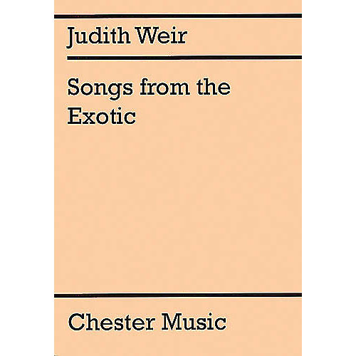 Music Sales Judith Weir: Songs From The Exotic Music Sales America Series thumbnail