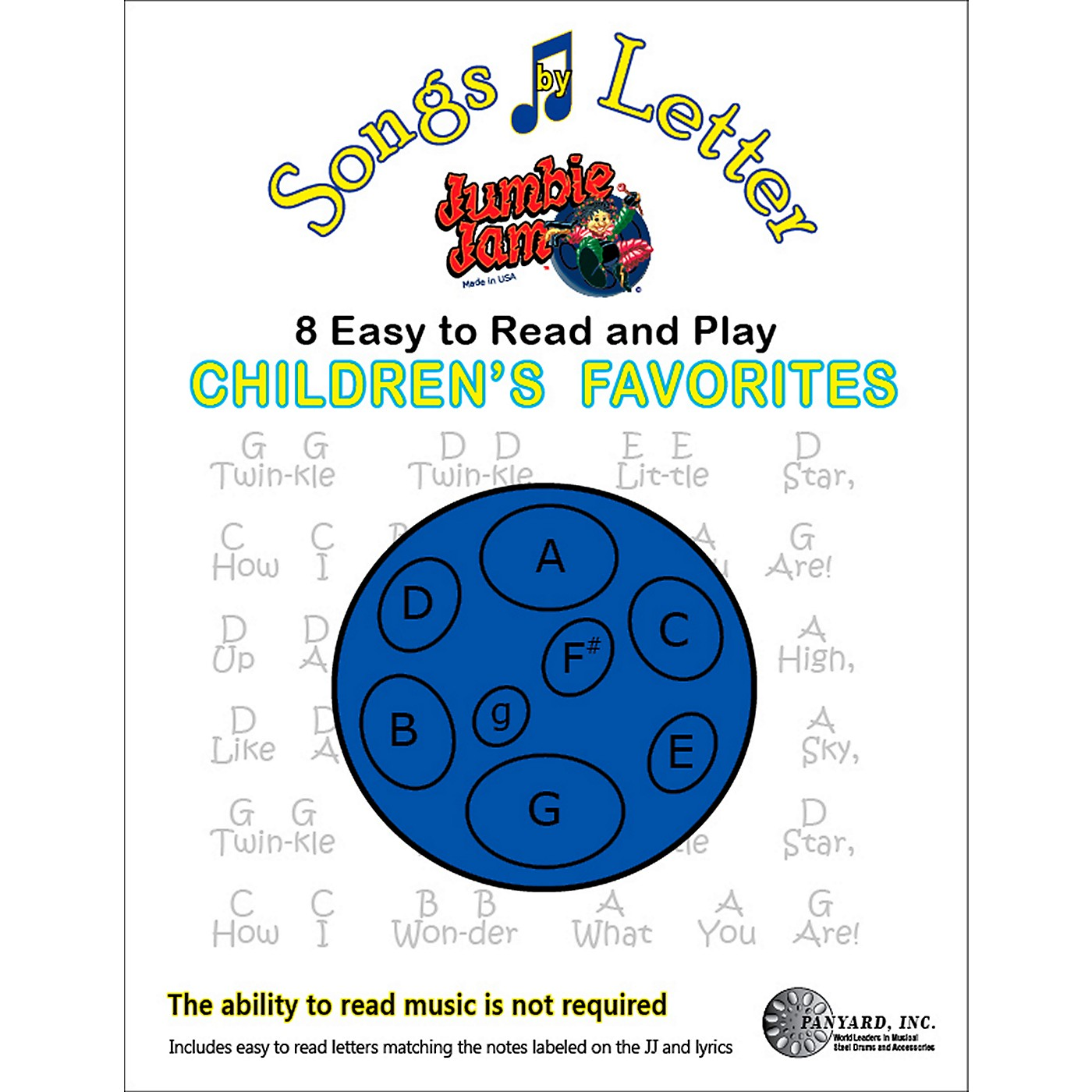 Panyard Jumbie Jam Songs by Letter Song Book - Childrens thumbnail